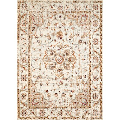 Randolph Floral Beige Area Rug Rug Size: Runner 1'1 x 7'2