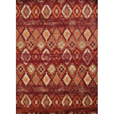 Randolph Red Area Rug Rug Size: 7'10