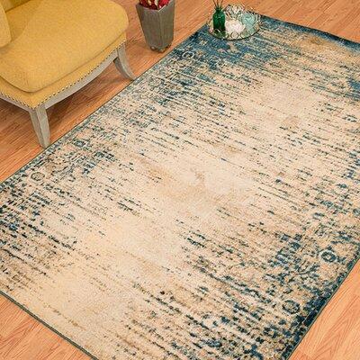 Randers Rectange Cerulean Area Rug Rug Size: 53 x 72