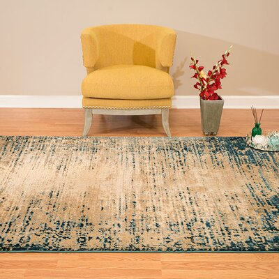 Randers Rectange Cerulean Area Rug Rug Size: 110 x 3