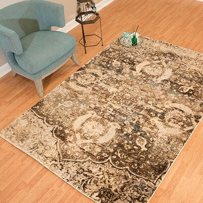 Randers Rectange Brown Area Rug Rug Size: 53 x 72