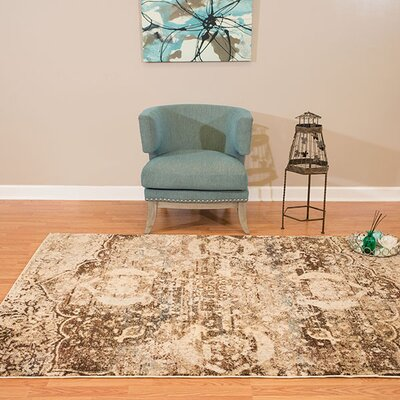 Randers Rectangle Brown Area Rug Rug Size: 27 x 311