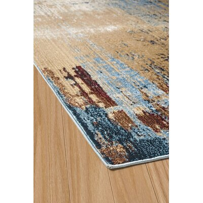 Randers Blue/Red Area Rug Rug Size: 27 x 311
