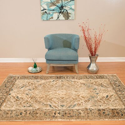 Randers Taupe Area Rug Rug Size: 27 x 311