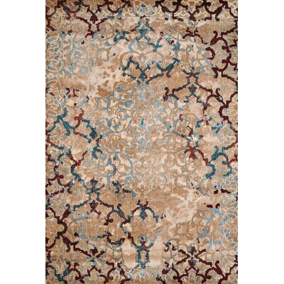 Randers Blue/Taupe Area Rug Rug Size: 53 x 72