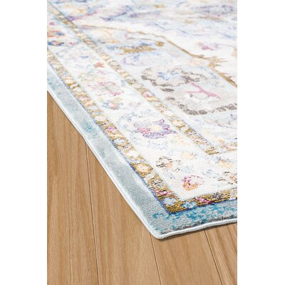 Ravenstein Cerulean Area Rug Rug Size: Rectangle 710 x 106
