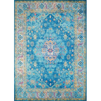 Ravenstein Oriental Cerulean Area Rug Rug Size: Rectangle 126 x 15
