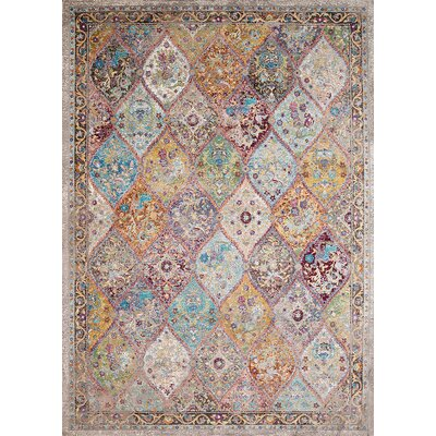 Ravenstein Teal/Yellow Area Rug Rug Size: Square 710 x 710
