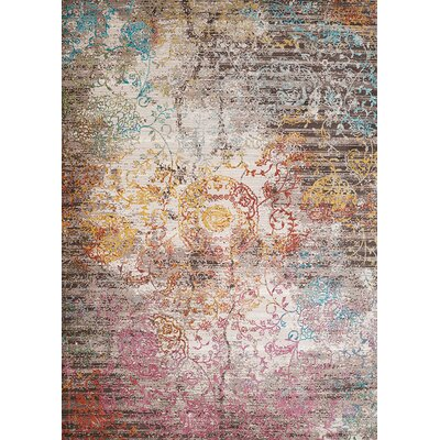 Ravenstein Pink/Brown Area Rug Rug Size: Runner 110 x 72