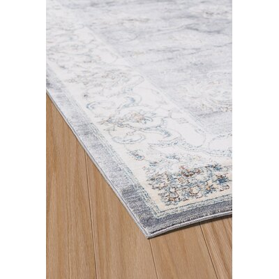 Jansson Oriental Blue/Gray Area Rug Rug Size: 53 x 710