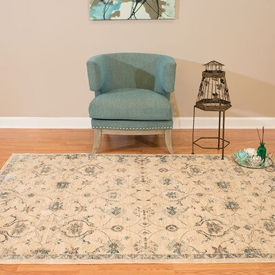 Jansson Bone Cotton Area Rug Rug Size: Rectangle 53 x 710