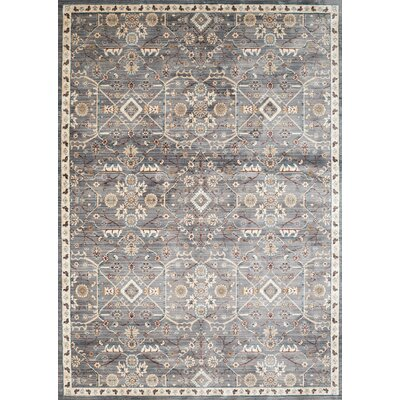 Jansson Blue/Gray Area Rug Rug Size: 53 x 710