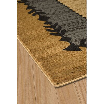 Sayre Gray/Gold Area Rug Rug Size: 53 x 72
