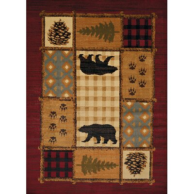 Sayre Red/Brown Area Rug Rug Size: 710 x 106