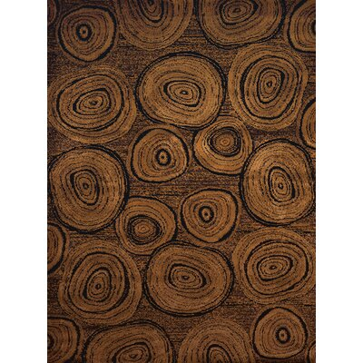 Sayre Timber Brown/Gray Area Rug Rug Size: 53 x 72