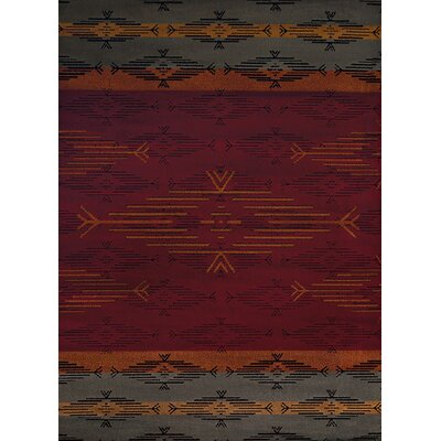 Sayre Red/Gray Area Rug Rug Size: Runner 111 x 72