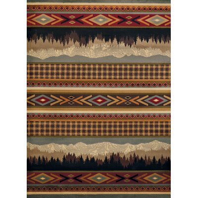 Sayre Mountain Gray/Brown Area Rug Rug Size: Runner 111 x 72