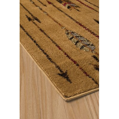 Sayre Quilted Arrow Brown Area Rug Rug Size: 53 x 72