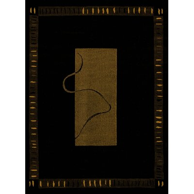 China Garden Vanguard Black Area Rug Rug Size: 53 x 72