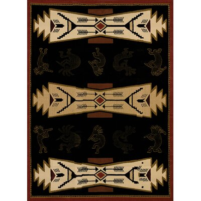 China Garden Trade Winds Black/Beige Rug Rug Size: Runner 111 x 72