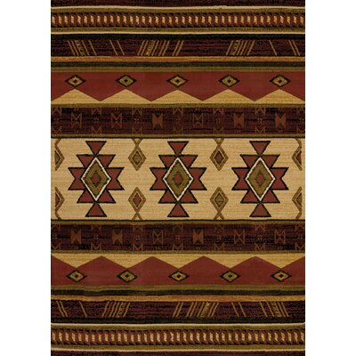 Juniata Southwest Wind Auburn Area Rug Rug Size: Rectangle 53 x 72