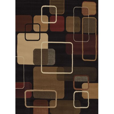 China Garden Jazz Black Multi Area Rug Rug Size: Rectangle 110 x 3