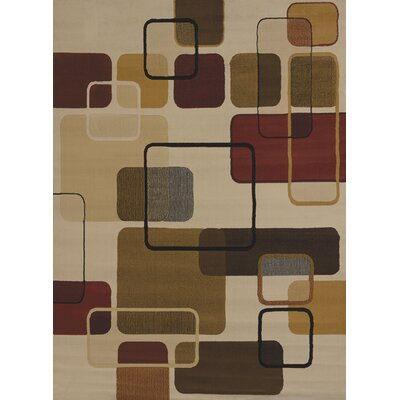 China Garden Jazz Linen Area Rug Rug Size: 53 x 72