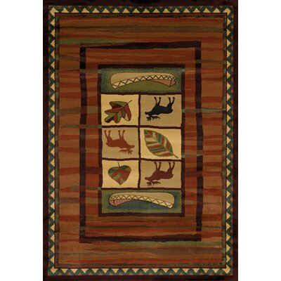 Genesis Highland Falls Lodge Area Rug Rug Size: Runner 111 x 74