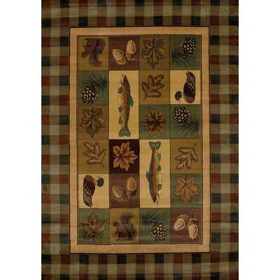 Genesis Brown Timberland Area Rug Rug Size: Rectangle 311 x 53