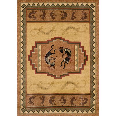 Genesis Ancient Icon Natural Area Rug Rug Size: 53 x 76