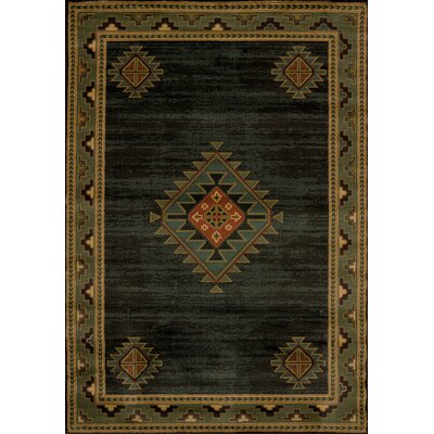 Genesis Laramie Hunter Sounthwestern Area Rug Rug Size: 53 x 76