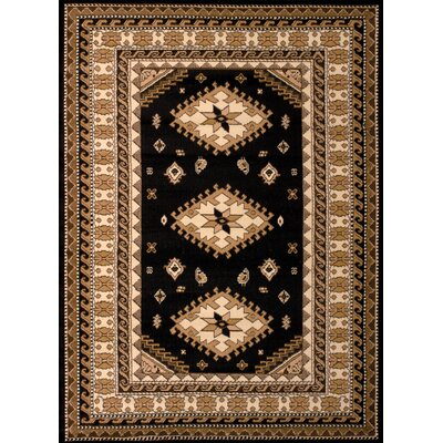 Dallas Tres Black/Brown Area Rug Rug Size: 710 x 106
