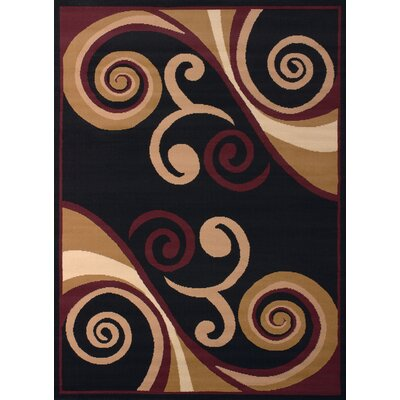 Dallas Billow Tan/Burgundy Area Rug Rug Size: 111 x 33