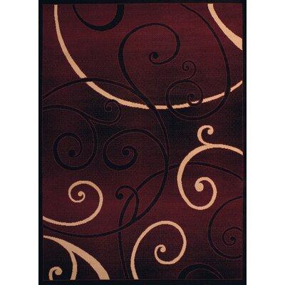 Dallas Bangles Burgundy/Beige Area Rug Rug Size: 53 x 72