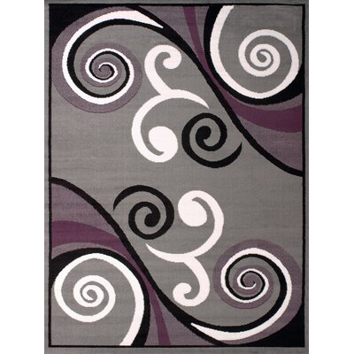 Dallas Billow Gray Area Rug Rug Size: 710 x 106