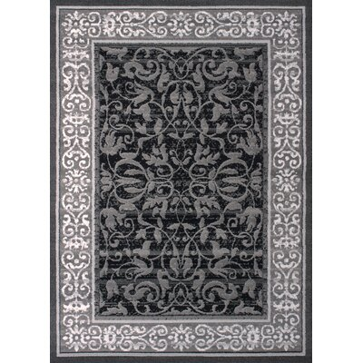 Dallas Baroness Gray Area Rug Rug Size: 111 x 33