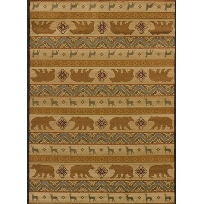Affinity Nordic Bear Cream Area Rug Rug Size: 5 3 x 7 2