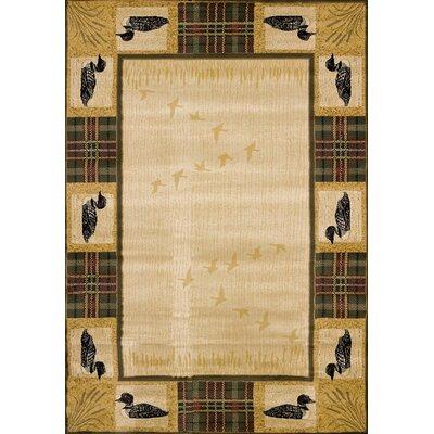 Genesis Beige Tartan Loon Area Rug Rug Size: 311 x 53