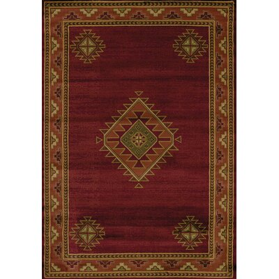 Genesis Burgundy Southwestern Laramie Burgundy Area Rug Rug Size: Rectangle 53 x 76