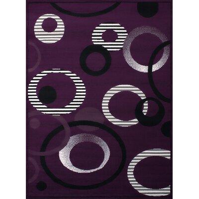 Dallas Hip Hop Lilac Area Rug Rug Size: 710 x 106