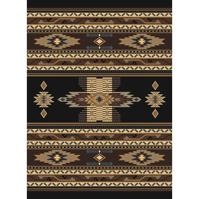 Manhattan Phoenix Black Area Rug Rug Size: 53 x 76