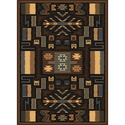 Hyacinthe Brown Olefin Area Rug Rug Size: Runner 111 x 74