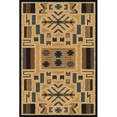 Hyacinthe Brown Area Rug Rug Size: 710 x 106