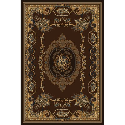 Manhattan Lexington Brown Area Rug Rug Size: 53 x 76