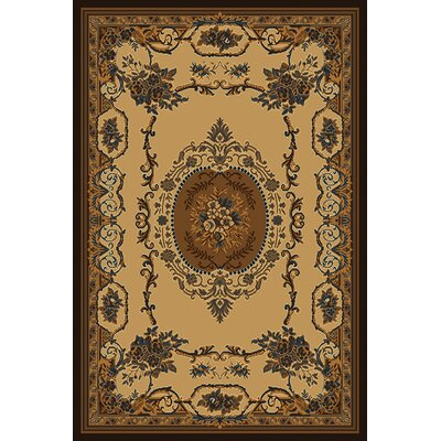 Manhattan Lexington Cream Area Rug Rug Size: 53 x 76