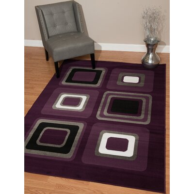 Dallas Spaces Lilac Area Rug Rug Size: 53 x 72