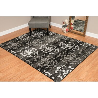 Dallas Countess Gray Area Rug Rug Size: 53 x 72