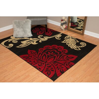 Dallas Dallas Trouseau Red Area Rug Rug Size: 53 x 72