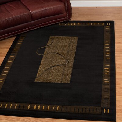 China Garden Vanguard Black Area Rug Rug Size: Rectangle 110 x 3