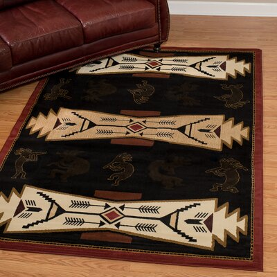 China Garden Trade Winds Black/Beige Rug Rug Size: Rectangle 710 x 106